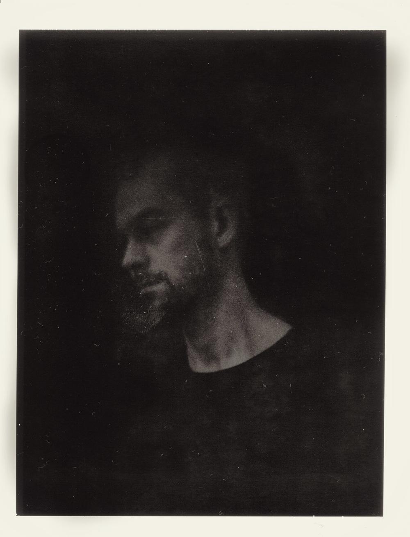 Jesper on expired Polaroid on Sinar w. old Petzval