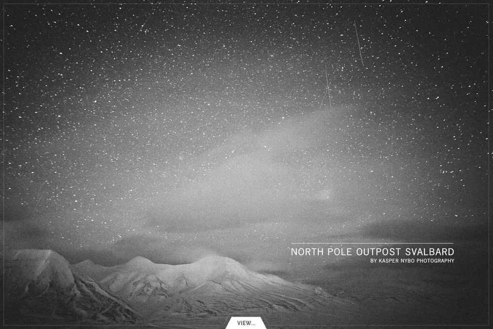 Beautiful winter darkness from North Pole outpost Svalbard, Norway. #places