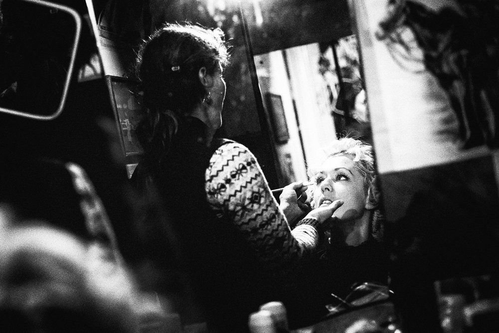 Copenhagen, Denmark.  Singer and multitalent Jeanett Albeck is preparing before a concert in the salons of the legendary Marquis Marcel De Sade.