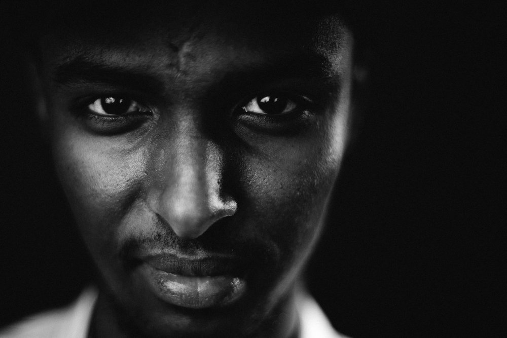 Copenhagen, Denmark.  Part of portrait series on refugees and asylum seekers in Denmark. This is Ahmed from Somalia.