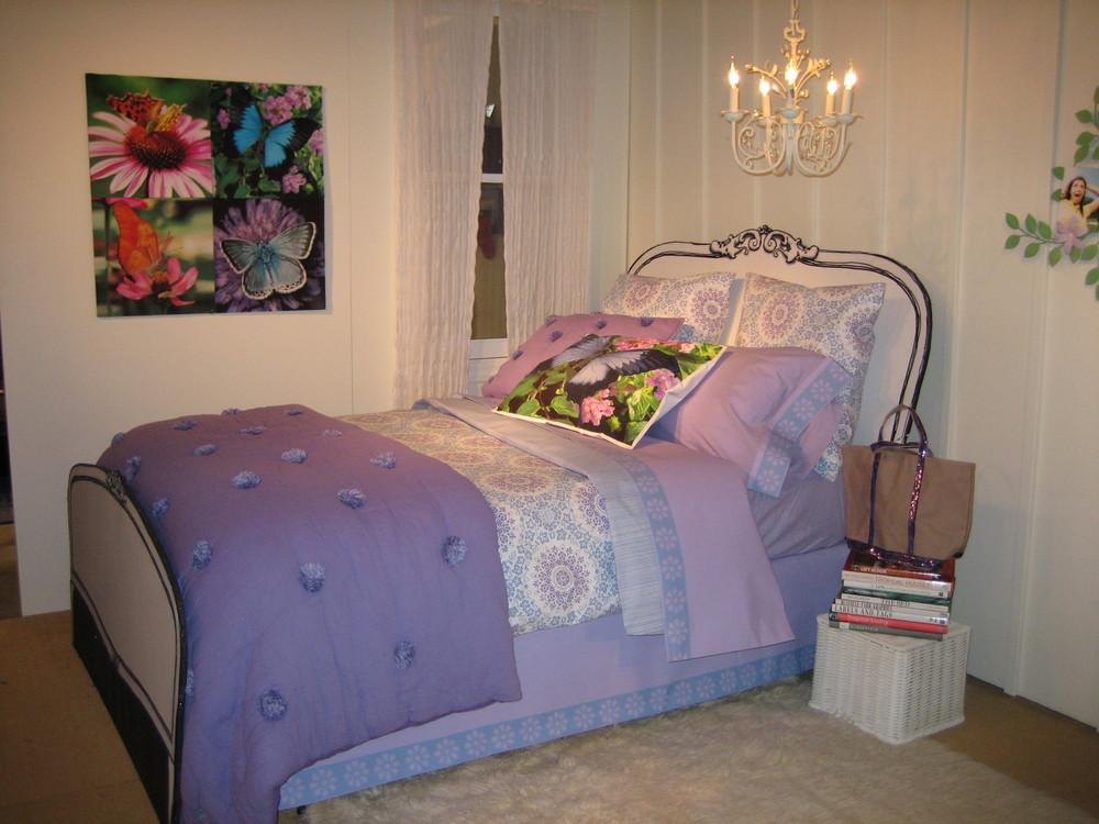 Designed Lilac Mocked up Bed