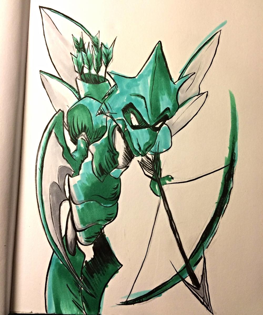 Scyther x Green Arrow