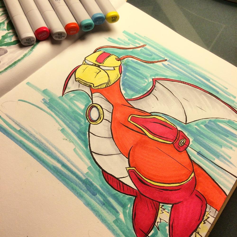 Dragonite x Iron Man