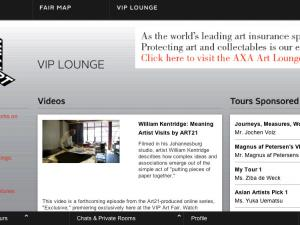 Blips for VIPs: Technical Woes Plague Online Fair    ART IN AMERICA  |  JANUARY 24, 2011