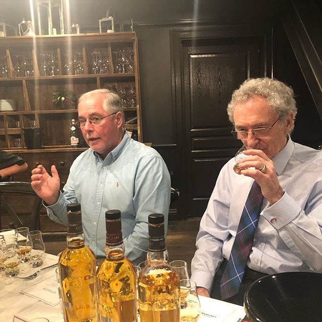 Got to soak up so much knowledge from these two amazing Master Distillers Eddie Russel (Wild Turkey, Russel's, Longbranch Whiskey) and Dennis Malcolm (Glen Grant Scotch). #campari #whiskey #whisky #matthewmacconaughey #whiskeyfest