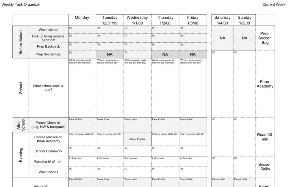 Weekly Task Organizer