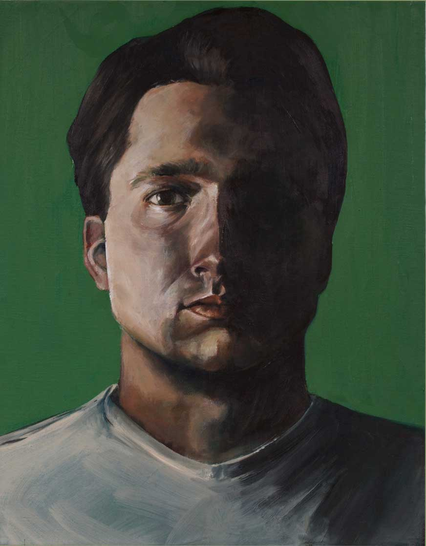 "Luke, ""x,"" oil on canvas"
