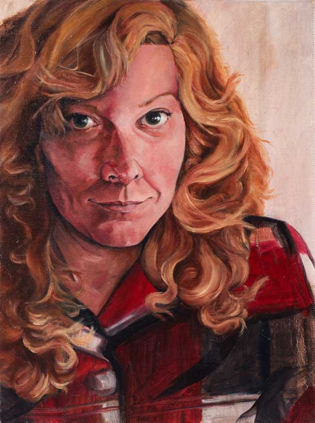 "Hilary, ""x,"" oil on canvas"