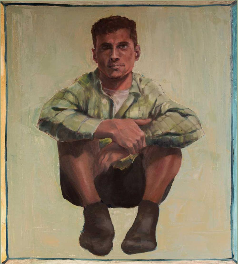 "Ahmad, ""x,"" oil on canvas"