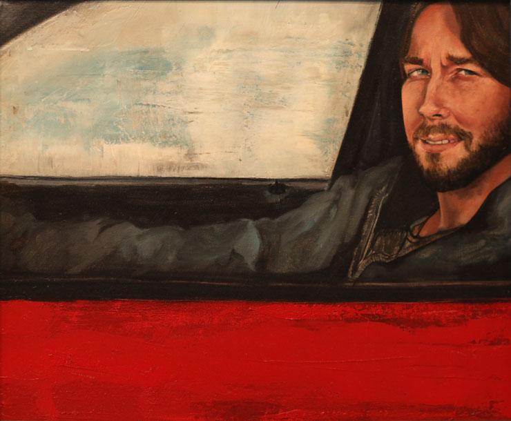 "Sean, ""x,"" oil on canvas"