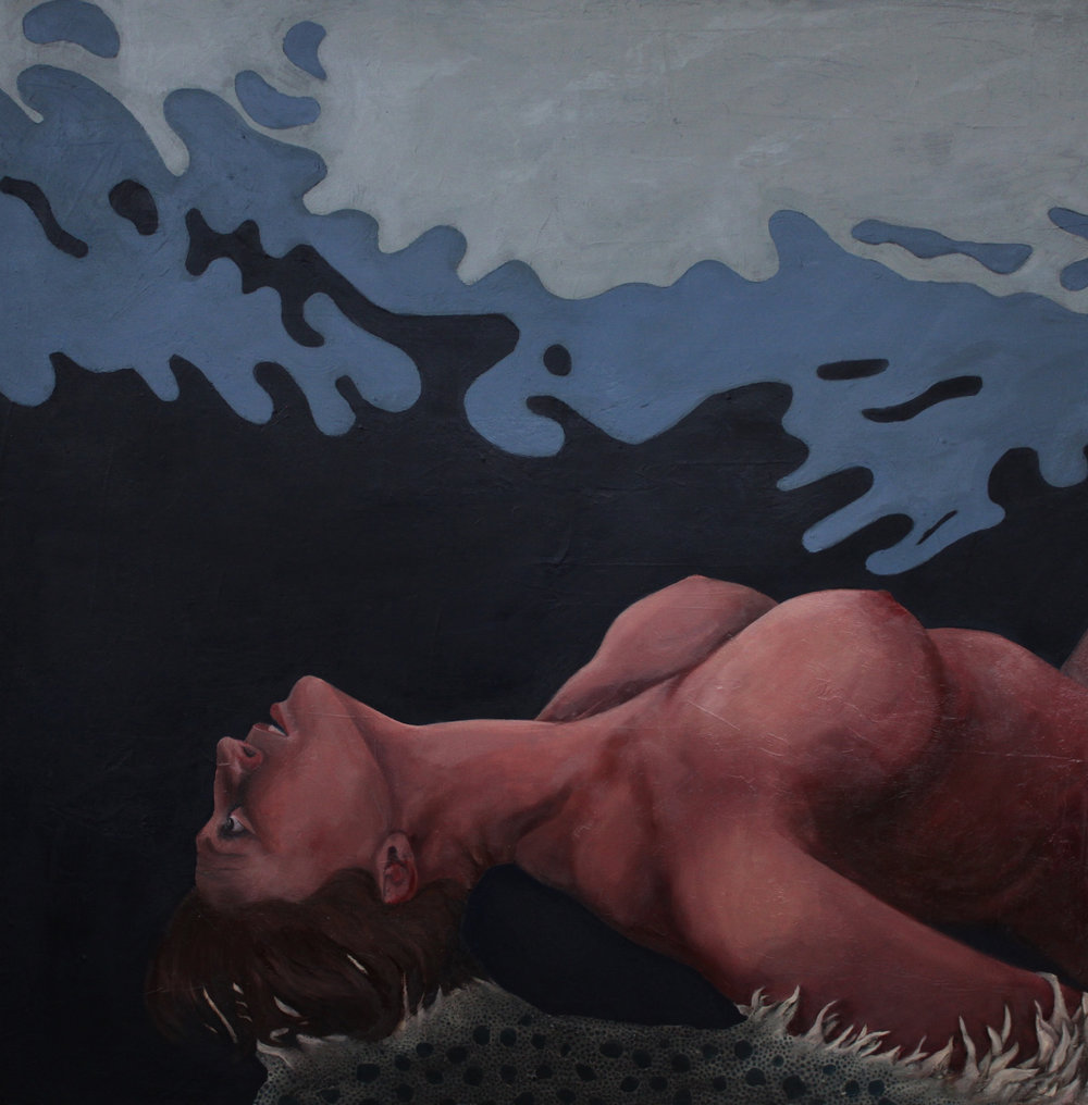 "Exhibit 2, 30""x30,"" oil on canvas"