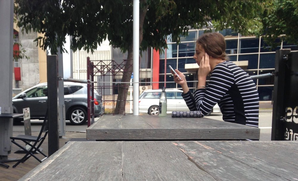 The user experience of a single person in a parklet?