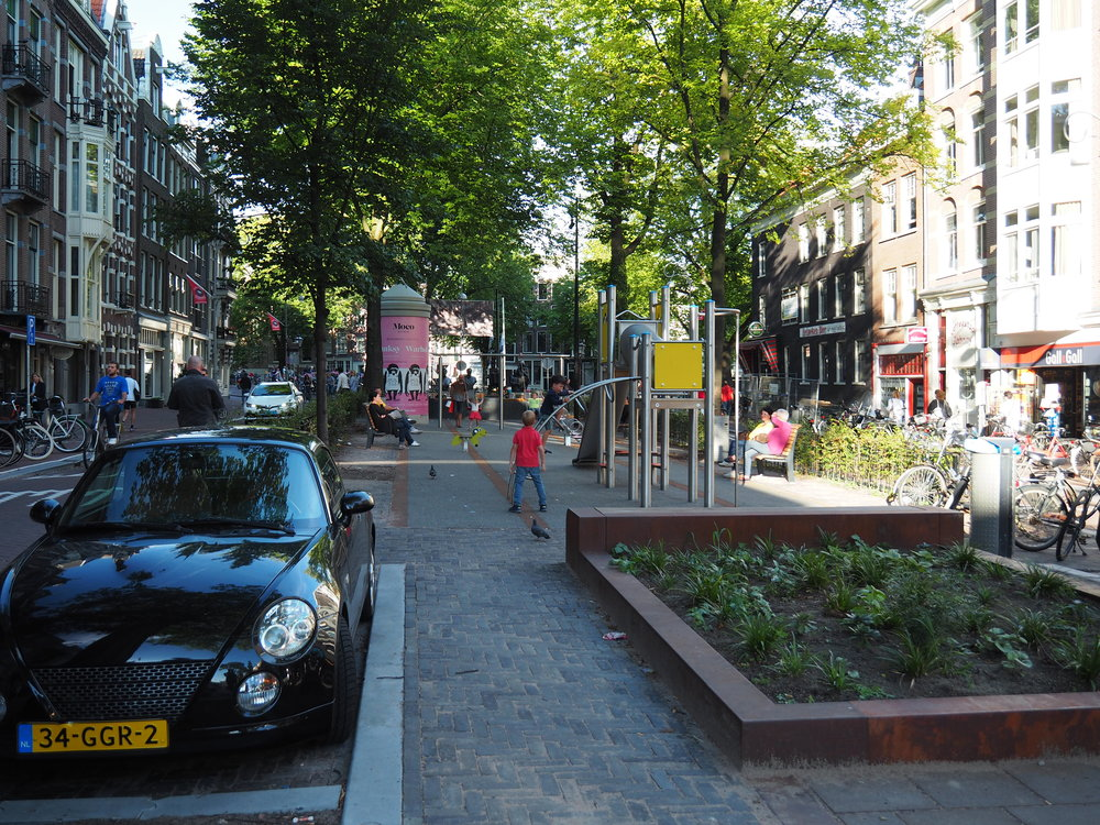 A street based playground in Amsterdam.