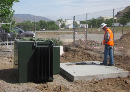 Installation of 400 kVA 3-phase transformer for Blue Sky Growers