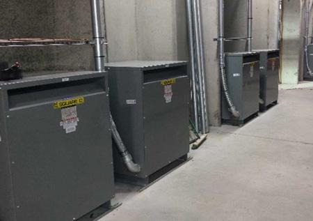Installation of 250 kVA transformers