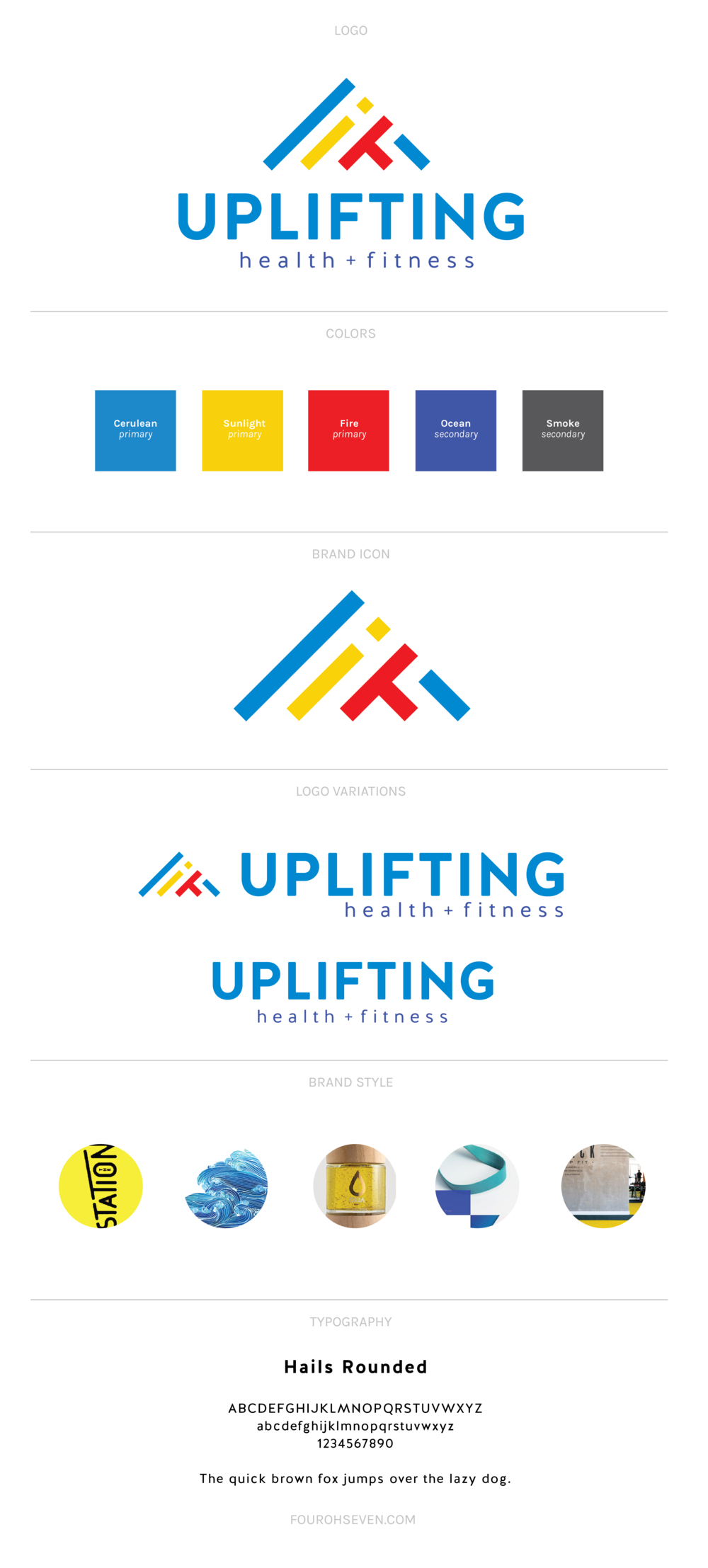 Uplifting Health + Fitness Branding
