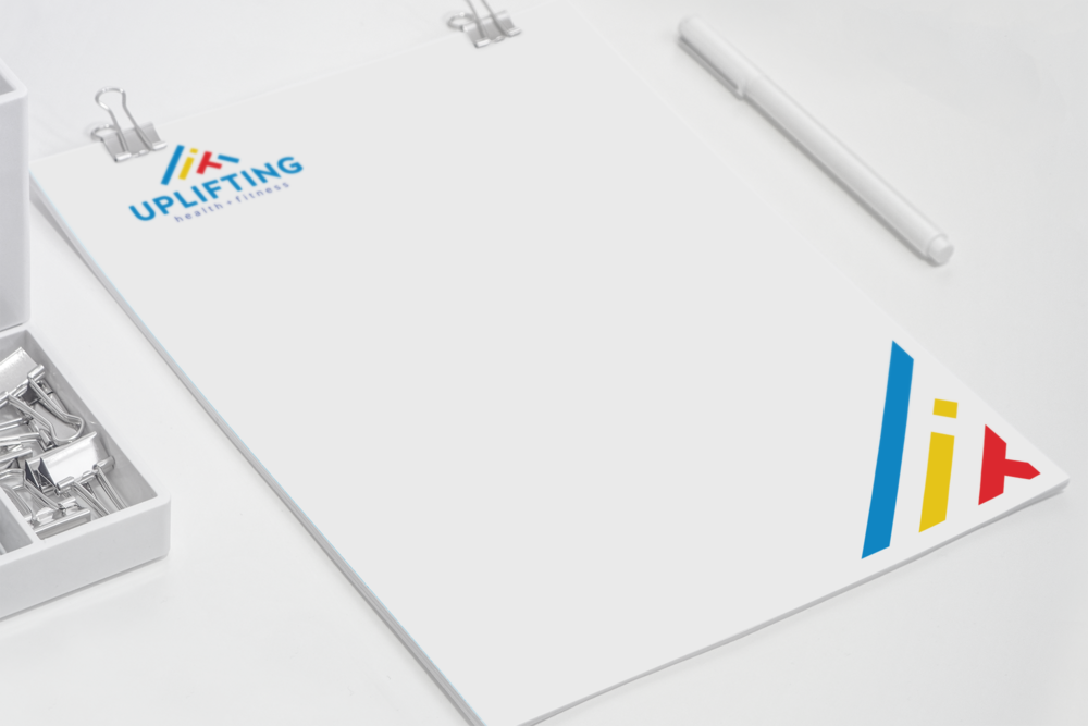 Uplifting Health + Fitness Letterhead Design
