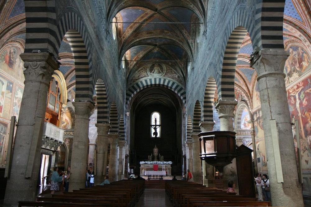 Interior of duomo in San Gimignano