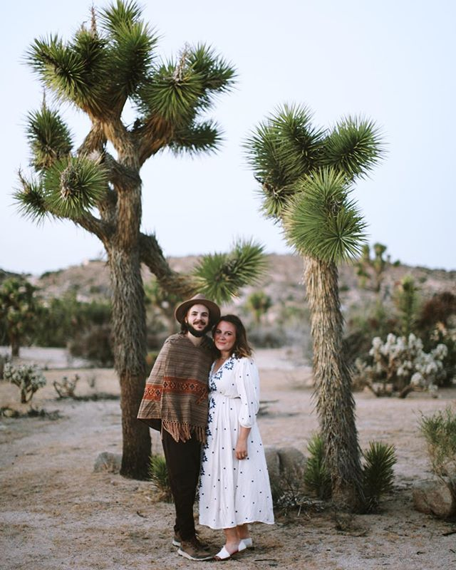 Introducing Mr. & Mrs. Stäzrad ❤️ . . Now that the 🐱s out of the bag, I'm so excited to share the good news. While we were away in Joshua Tree, this two lovebirds exchanged their vows and made it official. It was an intimate and oh so personal ceremony that was a joy to the few of us lucky enough to witness it. . . Welcome to the #wifelife, @kristin_stazrad! . . Love you! -L . 📷: @pemilie