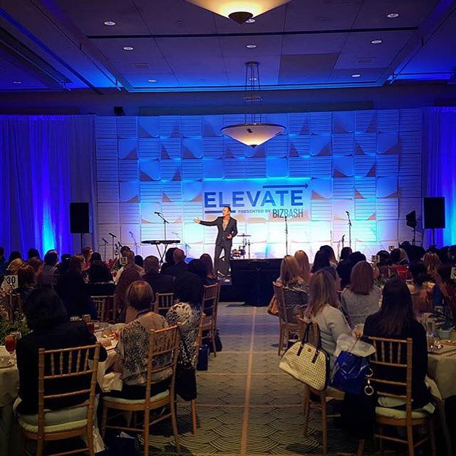 Colin Cowie, a famous event planner, presented during #ElevateDC's luncheon