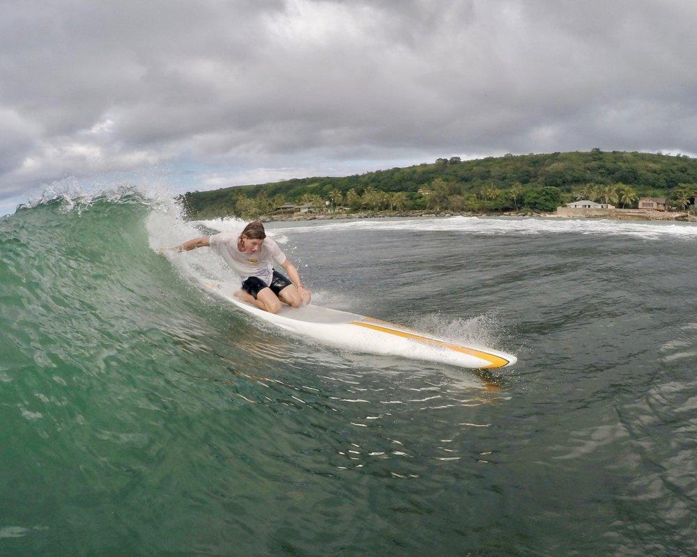 Lachie Surfing HI
