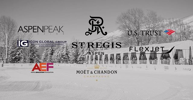 We couldn't have #snowpolo without our amazing sponsors #aspen #stregis #worldsnowpolo
