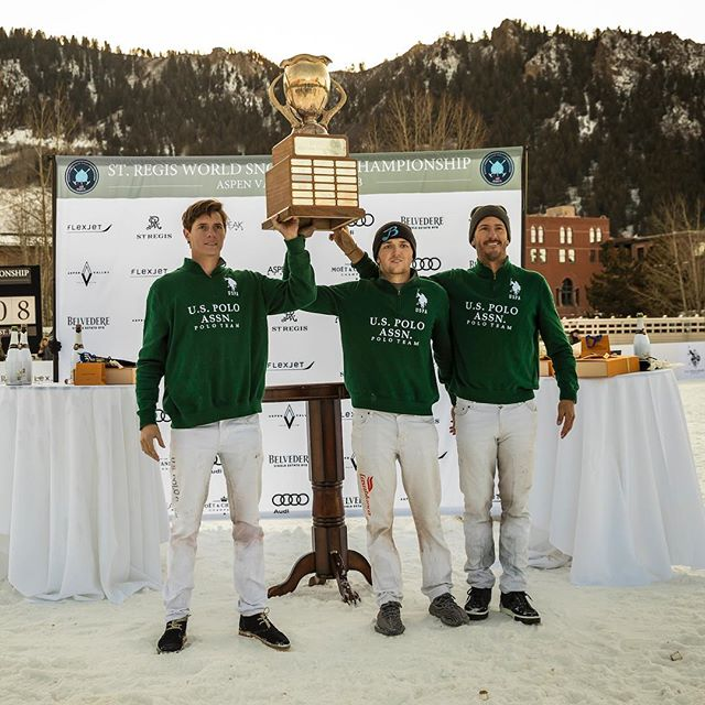 Congratulations to the winners of #snowpolo17! @uspoloassnusa @nicroldan @grant_ganzi @juanbollinipolo #aspen #livepolo #stregis