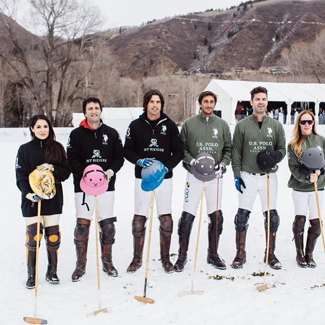 ‪Thank you to all our celebrity players this past weekend at #snowpolo17 #livepolo #aspen @StRegisAspen ‬