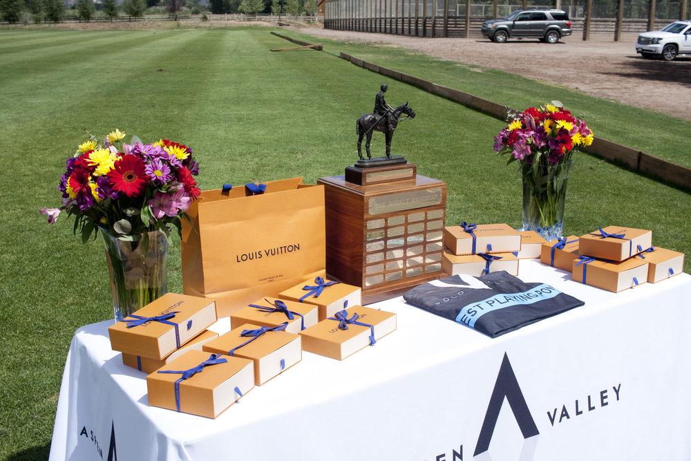 Trophy table for the Basalt Handicap..JPG