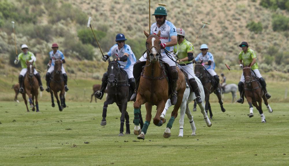 Alex Gooding of Casablanca breaks away on a goal run.