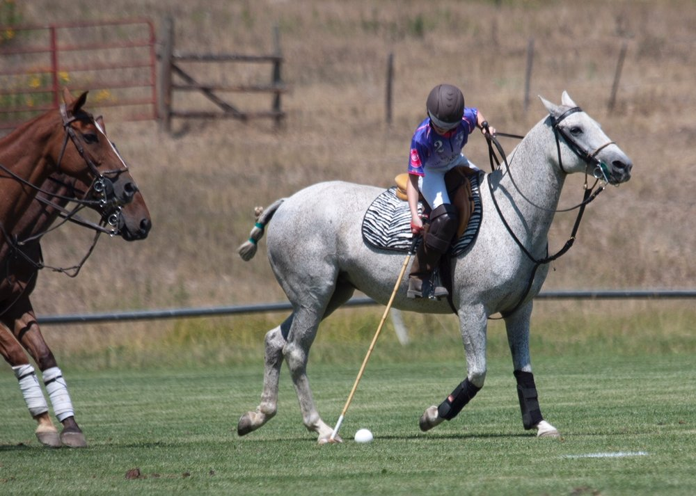 Stella Payne of Polo School Purple on her way to .JPG