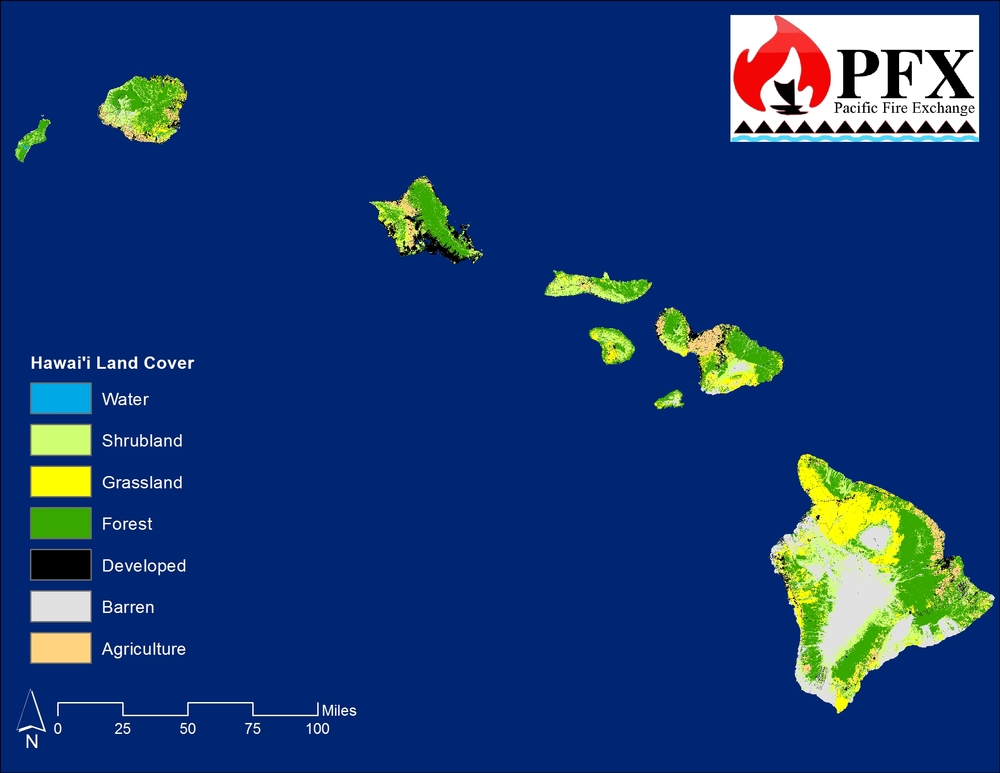 HAwaii state land cover from 2012 landfire product