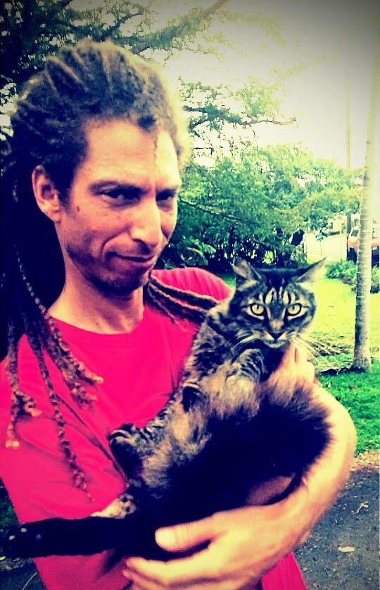 Orlando with his cat Bentley
