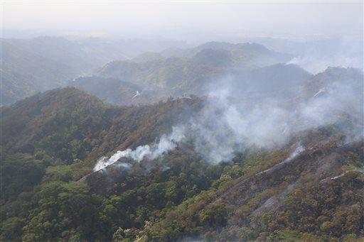Kipapa fire 2015. AP Photo/ Dan Dennison,Hawaii Department of Land and Natural Resources