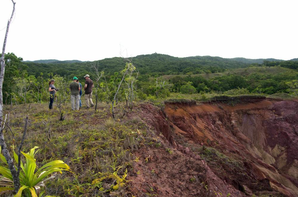 Erosion in re-prone savanna landscape on Palau. Photo: Clay Trauernicht