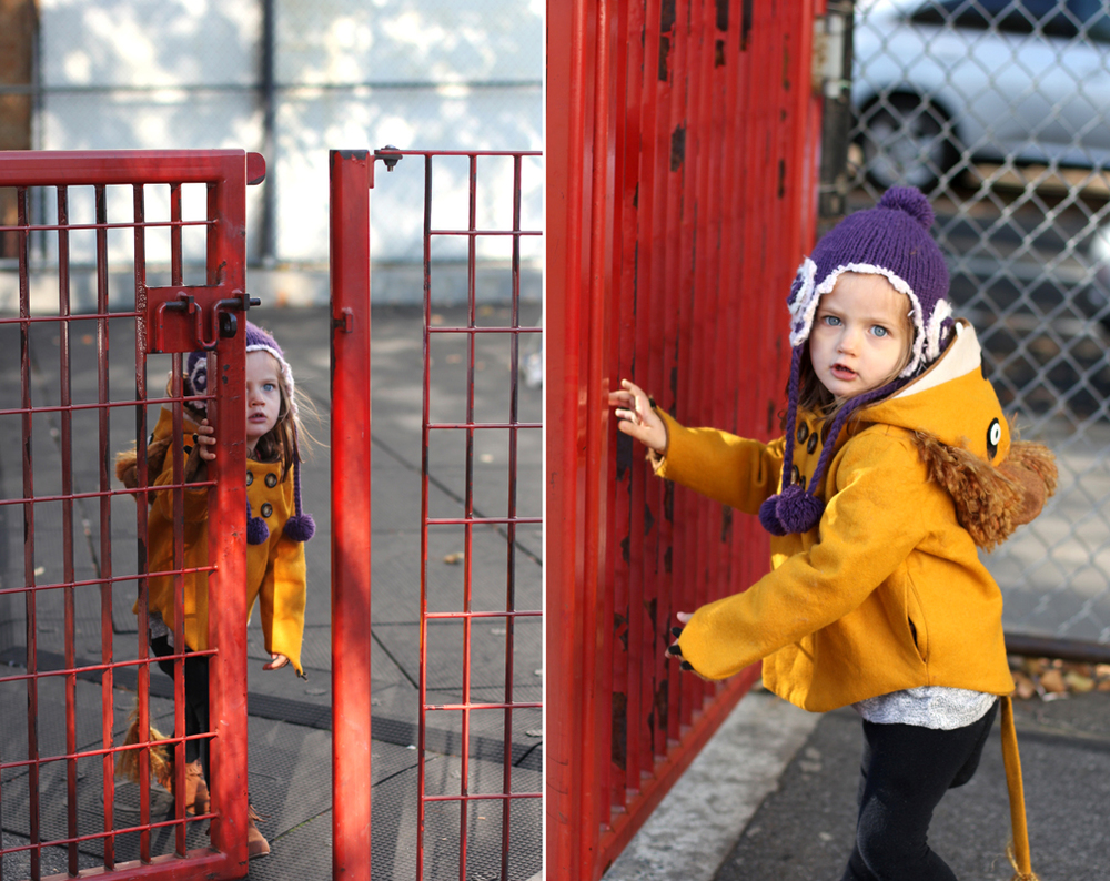 Sometimes we'll go to a playground and Alice will just play with the gate the whole time, opening and closing it, locking and unlocking it. I had totally forgotten how Everett used to do the same thing at this age.
