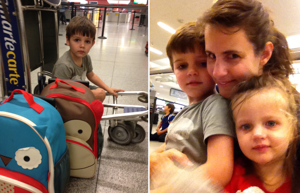 But they barely made it through baggage claim and passed out on the car ride home. Gently carrying the kids up to their beds when we got home at 6pm – 3am Greece time – we were all totally exhausted and a little sad to be back.