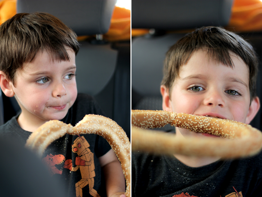 Who can resist a Koulouri, fresh from the bakery, on the ride home?