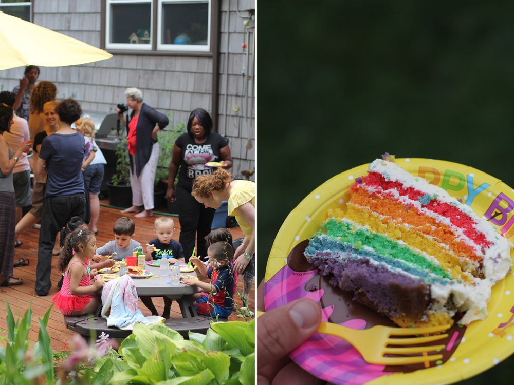 So many great kids and parents, delicious food, and a homemade rainbow cake! Inside is basically every toy ever made, so we got to play a piano, build a farm, play dress up and build puzzles. Sydney's house is a veritable paradise and Everett keeps asking when we're going back. Happy 5th birthday, Sydney!