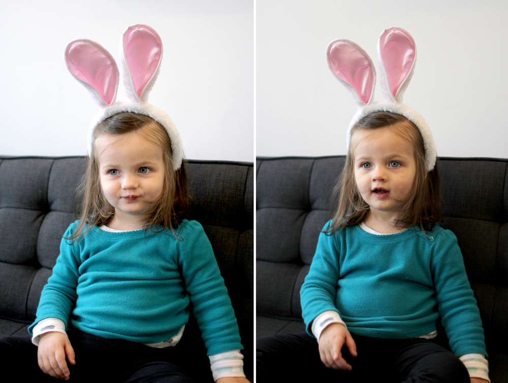 Our little Easter bunny.