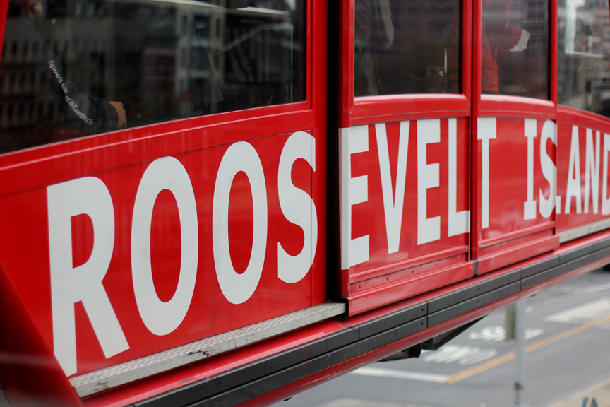 The weather is getting gloomier and gloomier. So before we're completely stuck indoors, we decided to take a ride on a train that flies. We knew the Roosevelt Island Tram would be a big hit with Everett and he was not disappointed.