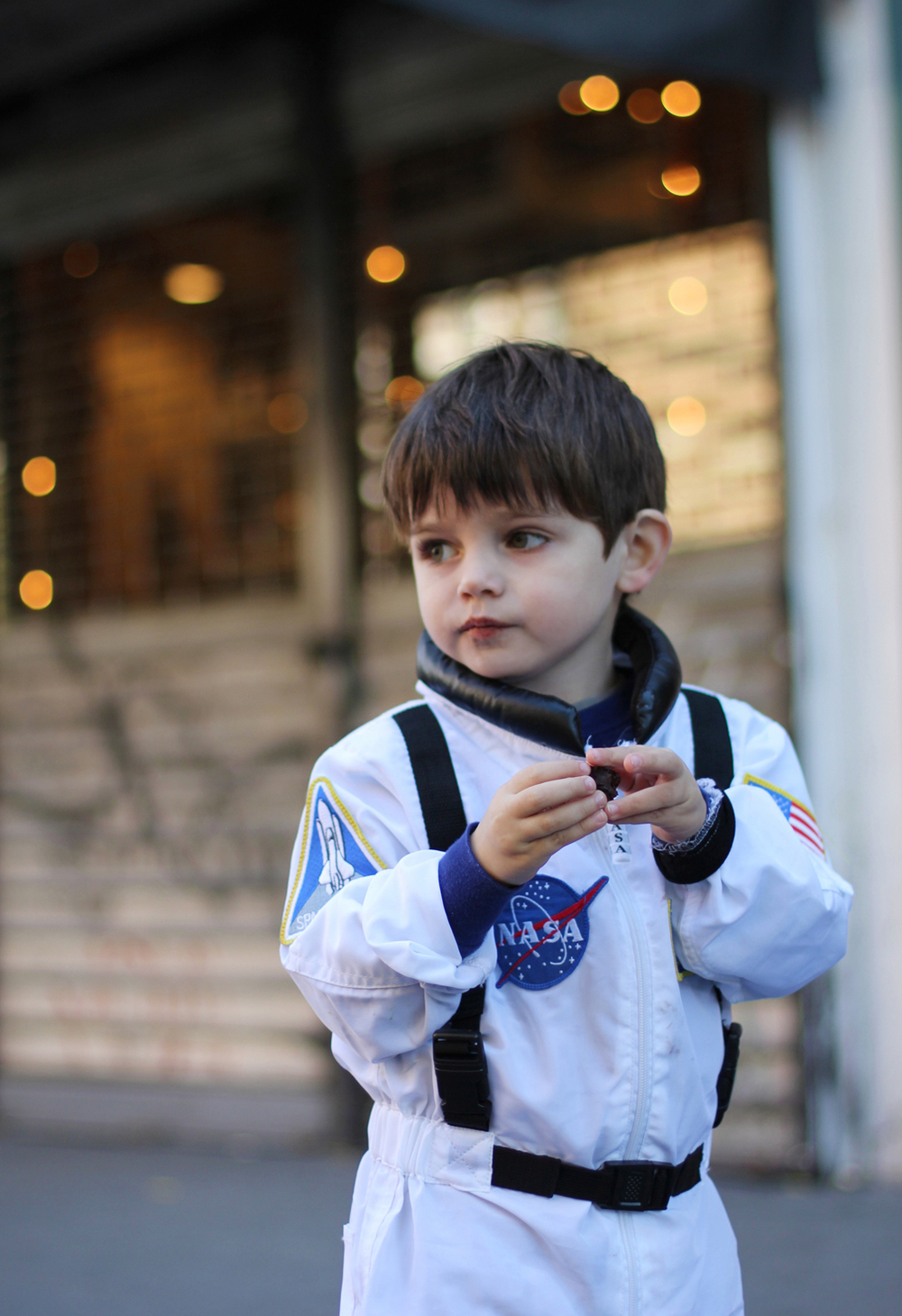Our little astronaut.
