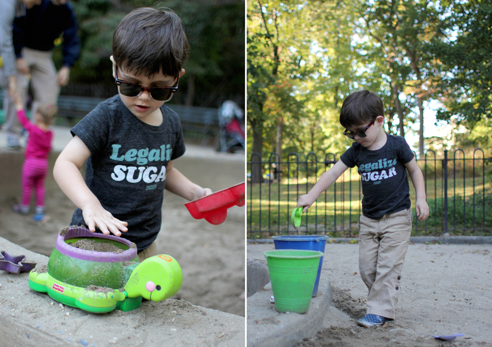 Which means perfect weather for the sand box.