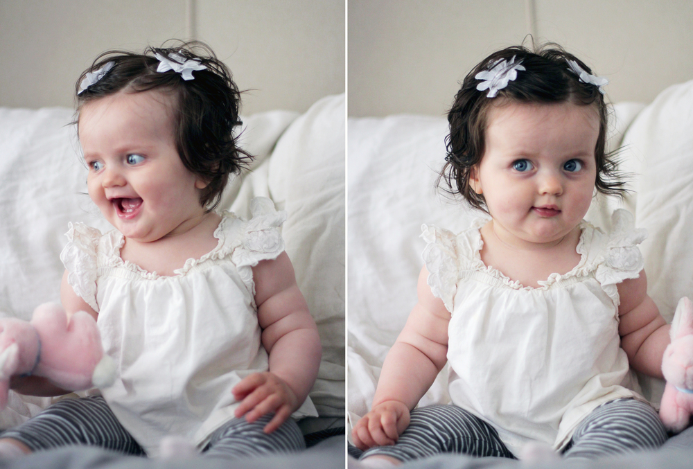 She makes the cutest little faces.