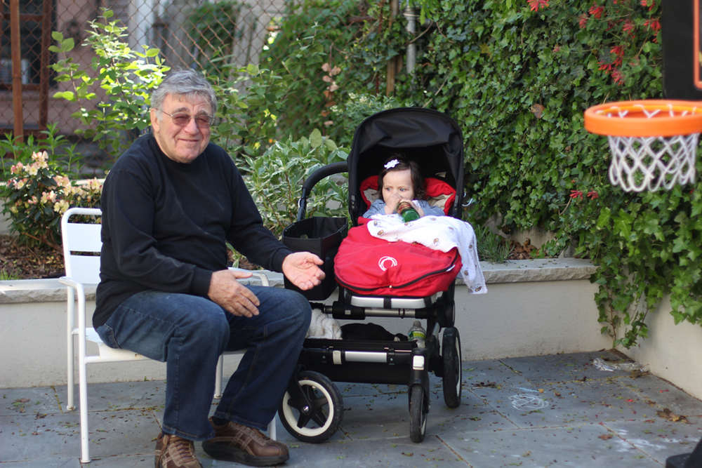 This was Papou's reaction when we all noticed he'd given Alice a beer. He claims the bottle was empty the whole time, but he looks guilty to me.