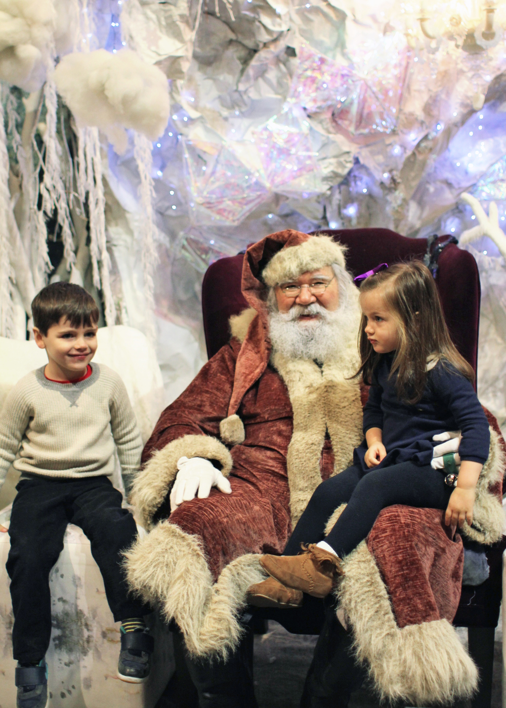 "They squealed with delight when he let out a big ""ho, ho, ho!"""