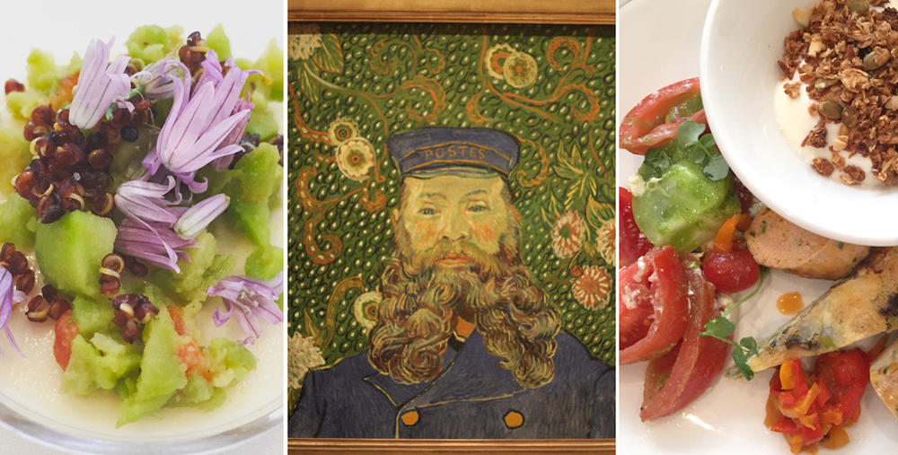 "When I say ""incredible food,"" I mean it's (almost) as beautiful as the art."