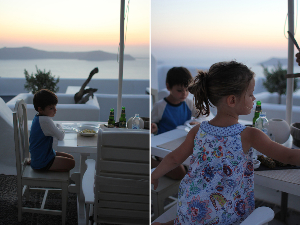 We ordered room service and watched the sunset from our veranda.