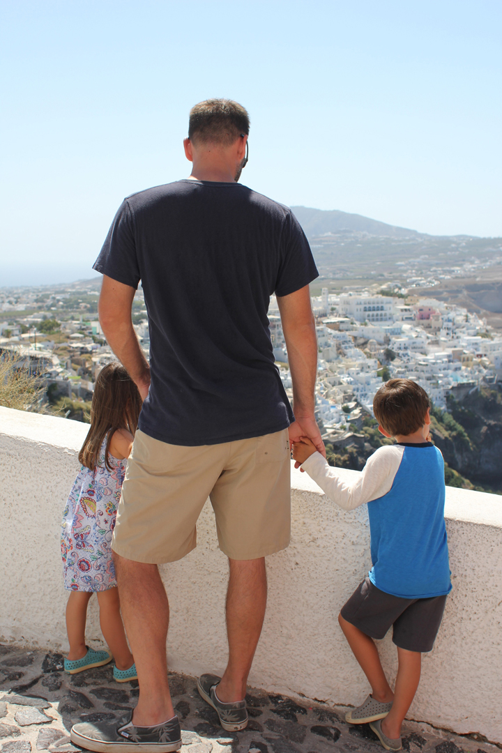 "Good thing we were able to perfect that ""death grip hand hold"" technique in Folegandros."