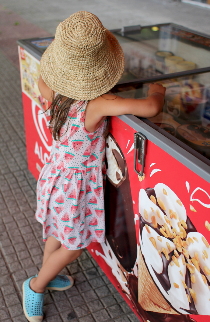 "Before we came to Greece we promised the kids ""swimming every day and ice cream every day."" And they were not shy about holding us to our word, even up to the last day.  ""Mommy, I want this one. No this one. Both of thems."""